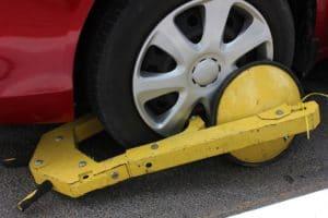Clamped Wheel - Parking Violation