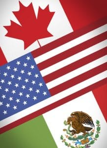 Canada, USA and México flags