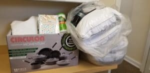 Donation of Linens and Cleaning Supplies
