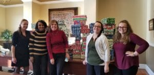 The FLB Team wrapped 72 shoeboxes for the Holiday Hope Chest