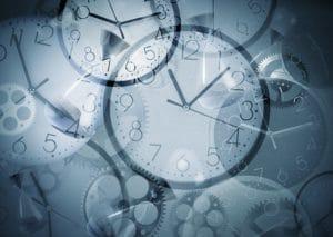 Multiple Clocks Depicting Overtime