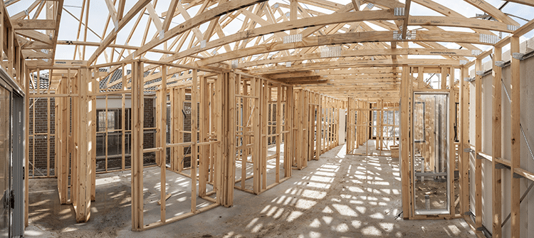 Photo of a home being built